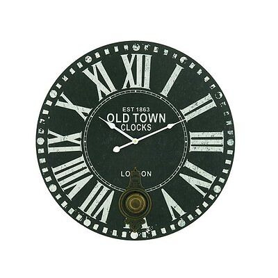 "23"" London Clock with Roman Numerals ABCHomeCollection Free Shipping"