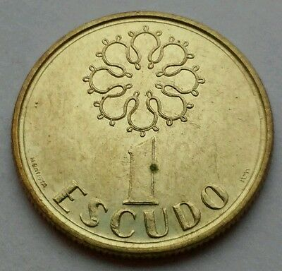 Portugal 1 Escudo 1988. KM#631. Nickel Brass One Dollar coin.