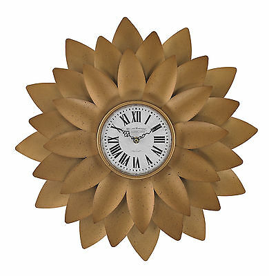 """20"""" Petal Wall Clock August Grove Free Shipping High Quality"""