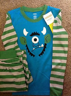 NEW! Gymboree gymmies (long sleeves/pants) - Boys size 12 - Monster blue/green
