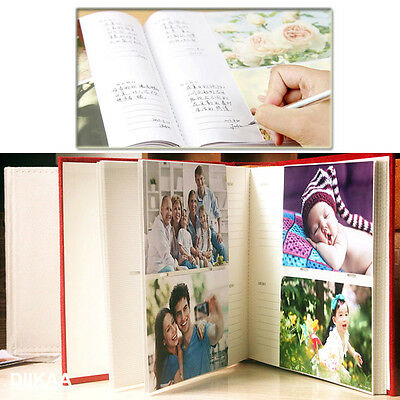 "200 Pockets Slip In Photo Album With Memo Area Family Wedding Gift 6""x 4"" Photos"