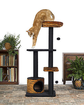 """48"""" Kitty Power Paws Tiger Tower Cat Tree Prevue Hendryx Free Shipping"""