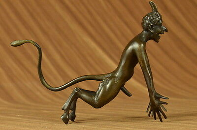 Vintage Miguel Lopez GENUINE BRONZE Satyrs Sculpture Statue GREEK Hot Cast Decor