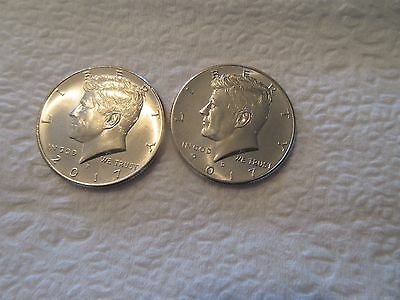 Lot #6E 2017 P&D KENNEDY HALF DOLLARS, UNCIRCULATED