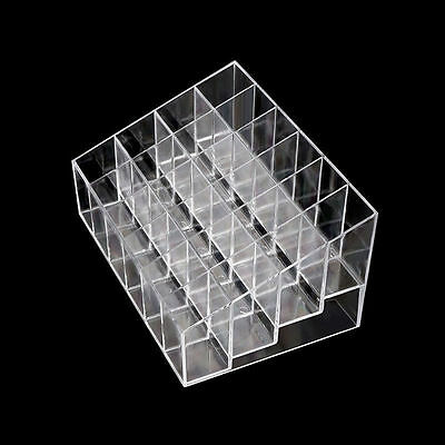 Acrylic Clear 24 Lipstick Holder Display Cosmetic Organizer Makeup Case Storage