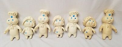 Vintage large Lot of Pillsbury Doughboy Family Figures  Vinyl  rubber Child
