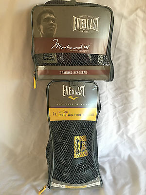 Everlast Headgear Muhammad Ali Signature Collection/Wristwrap Boxing Gloves 2974
