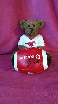Calgary Stampeders Signed Ball And Piggy Bank