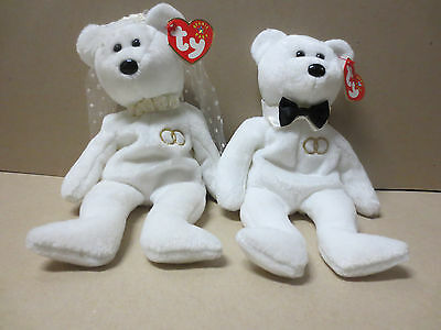 TY Beanie Babies Collection- Mr and Mrs - With Hang & Tush tags