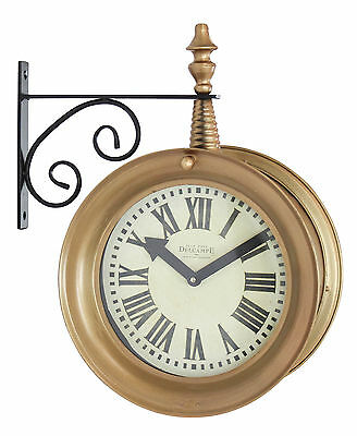 "17"" Delcampe Train Station Wall Clock Aspire Free Shipping High Quality"