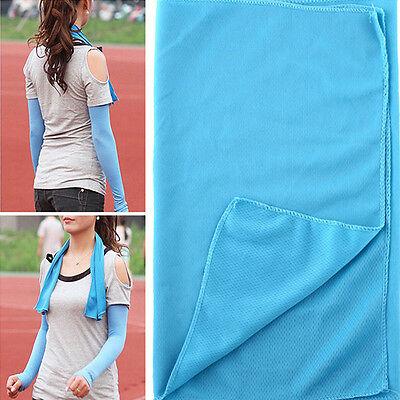 30*80cm Summer Reuseable Cold Towel Sports Fitness Sweat  Ice Towel Cool Towel