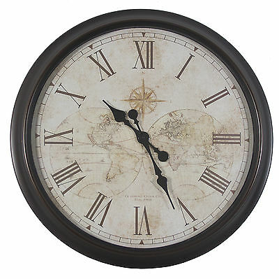 """Oversized 30"""" Antique Map Wall Clock Darby Home Co Free Shipping High Quality"""