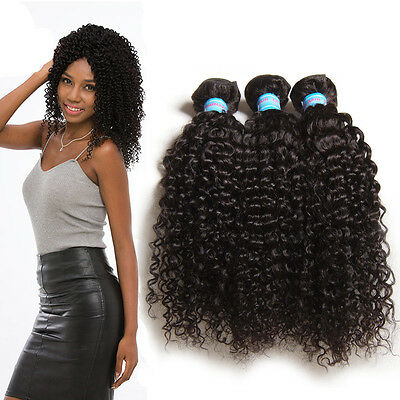 Cambodian Curly Human Hair Weft Weaves 8A Virgin Hair Extensions 1Bundles/100g