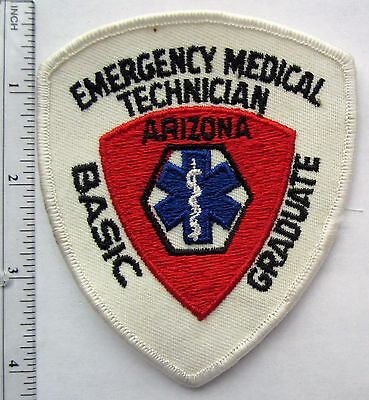 Vintage 60s 70s Emergency Medical Technician Basic Graduate ARIZONA Embroidered