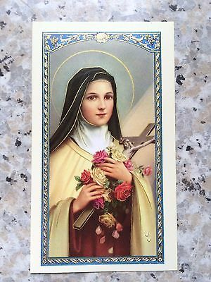 St Therese Prayer Holy Card - unlaminated