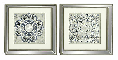 2 Piece Polystone Mirror Framed Wall Art Set Bungalow Rose Free Shipping