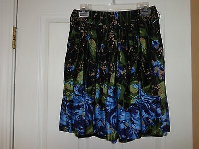 New Ann Taylor Loft Women's Casual Mini Skirt Size Petites 2P Black-Blue-Green