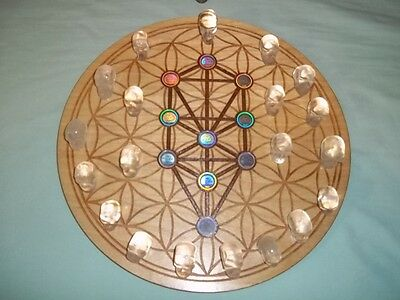 Amazing Crystal Skull Grid With 3D Hologram One Of A Kind Radionics Orgone Power