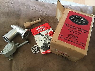 Unused Vintage Sunbeam Meat And Food Mincer Attachment. Boxed