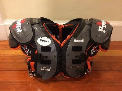 """Riddell Stock Power - Football Shoulder Pads PM86DB, Adult Large, L, 19""""-20"""""""