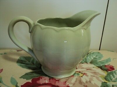 """GRINDLEY ENGLAND PETAL WARE 4"""" milk jug with fluted sides in mint green"""