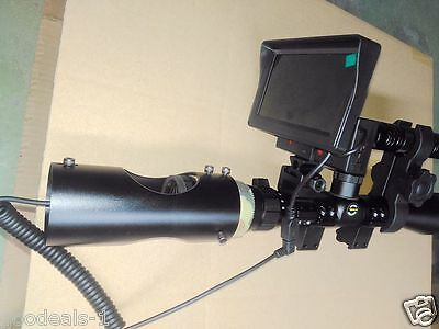 Day Night Use Rifle Scope Add On Night Vision Scope Device with Screen