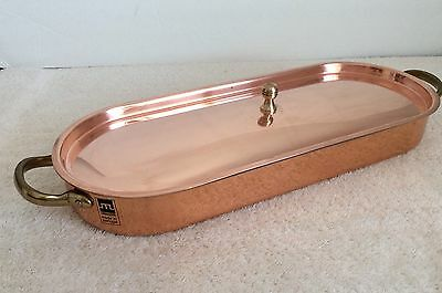 Metalutil Copper Fish Poacher with Brass Handles New Never Used