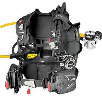Diving Equipment Mares Package Bcd Pure Größe Xlarge Joch Regler Abyss