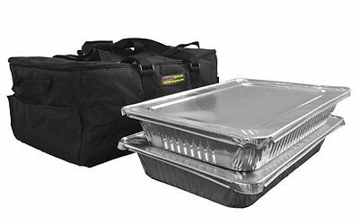 Catering Bag Holds up to Two or Three Full Pans(Black)