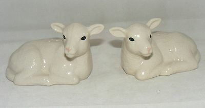 Quail Ceramics Lambs Salt & Pepper Set 617