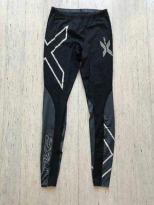 2XU mens Elite black full length long compression tights, size medium tall