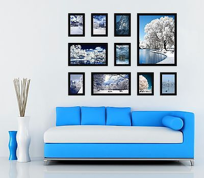 Modern Picture Photo Frame Set 10 Pcs New Wall Mounted Hanging Art Home Decor