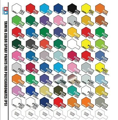 SALE - TAMIYA PS Spray Paint for Lexan Polycarbonate(Select your colour) From $8
