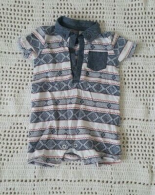 Boys multicoloured baby grow romper up to 3 months
