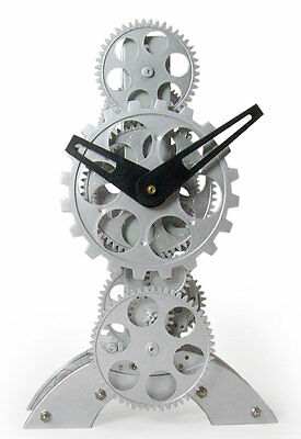 Moving Gear Desktop Clock Maples Clock Free Shipping High Quality