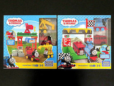 Mega Bloks Thomas & Friends Kevin & Victor + Thomas & Bertie, 2 Building Sets