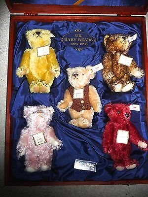 Steiff - UK Baby Bears Collection 1994-98. Limited Edition boxed.