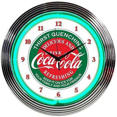 "Drinks 15"" Coca Cola Wall Clock Neonetics Free Shipping High Quality"