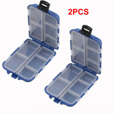 10 Compartments Storage Case Box Fly Fishing Lure Spoon Hook Bait Tackle Box #