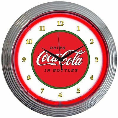 "Drinks 15"" Coca Cola 1910 Classic Wall Clock Neonetics Free Shipping"
