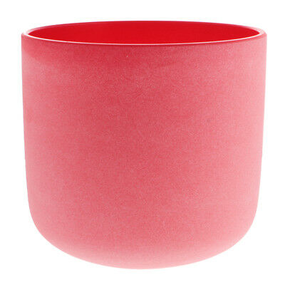 C Note Root Chakra Quartz Crystal Singing Bowl Excellent Quality 7 Inch Red