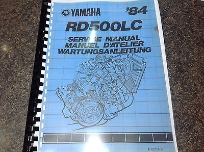 YAMAHA RD 500 LC SERVICE MANUAL MANUEL D'ATELIER WARTUNGSANLEITUNG workshop RZ