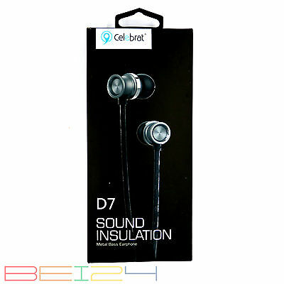 D7 In-ear Headset Kopfhörer Mikrofon Bass Pink Hybird Ohrhörer Samsung Tab S2 Cell Phones & Accessories
