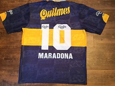 1996 Boca Juniors Maradona Adults Large Football Shirt Argentina Camiseta