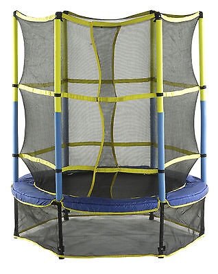 """55"""" Kids Trampoline with Enclosure Upper Bounce Free Shipping High Quality"""