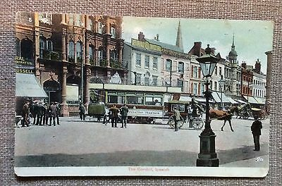Ipswich - The Cornhill - Edwardian card