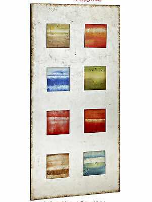 Colourful Rectangular Glass Painted Contemporary Wall Art Majestic Mirror (NEW)