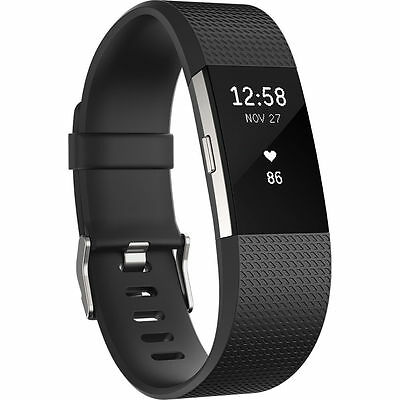 Fitbit Charge 2 HR - Schwarz (Large)