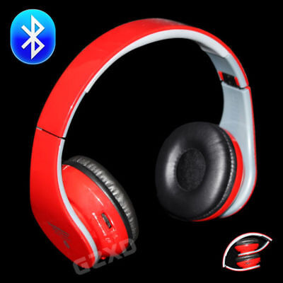 Bluetooth Wireless Noise Cancelling Over-Ear Headphones Mic FM TF iPhone Samsung