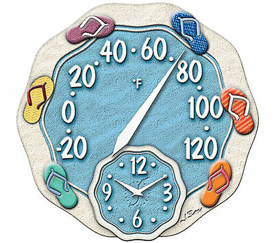 """Springfield Precision Instruments 12"""" Thermometer Wall Clock Taylor (NEW)"""
